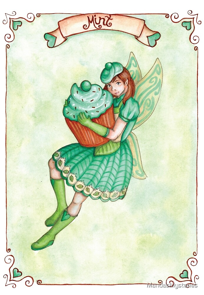 Mint - Cupcake Fairy Collection by MandasMysteries