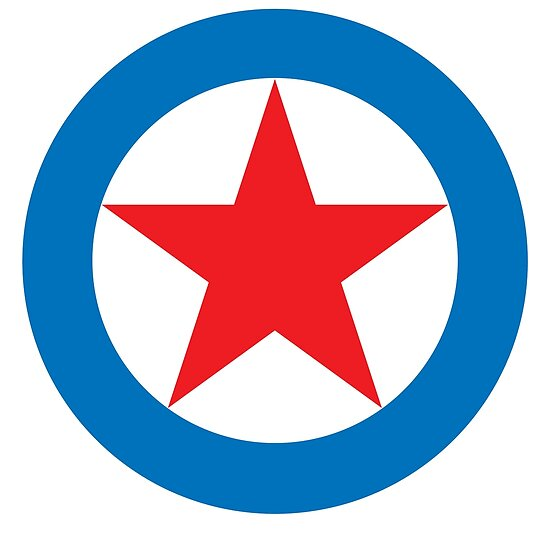 Star Circle Super Star Red Star White Circle Blue Outer Ring