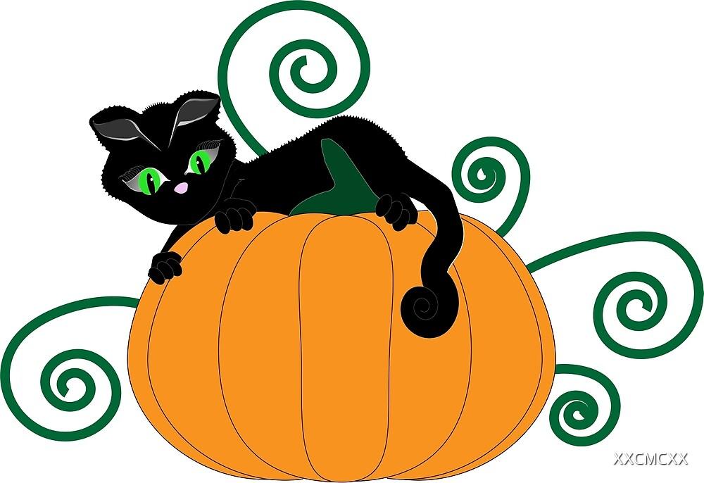 Pumpkin cat by XXCMCXX