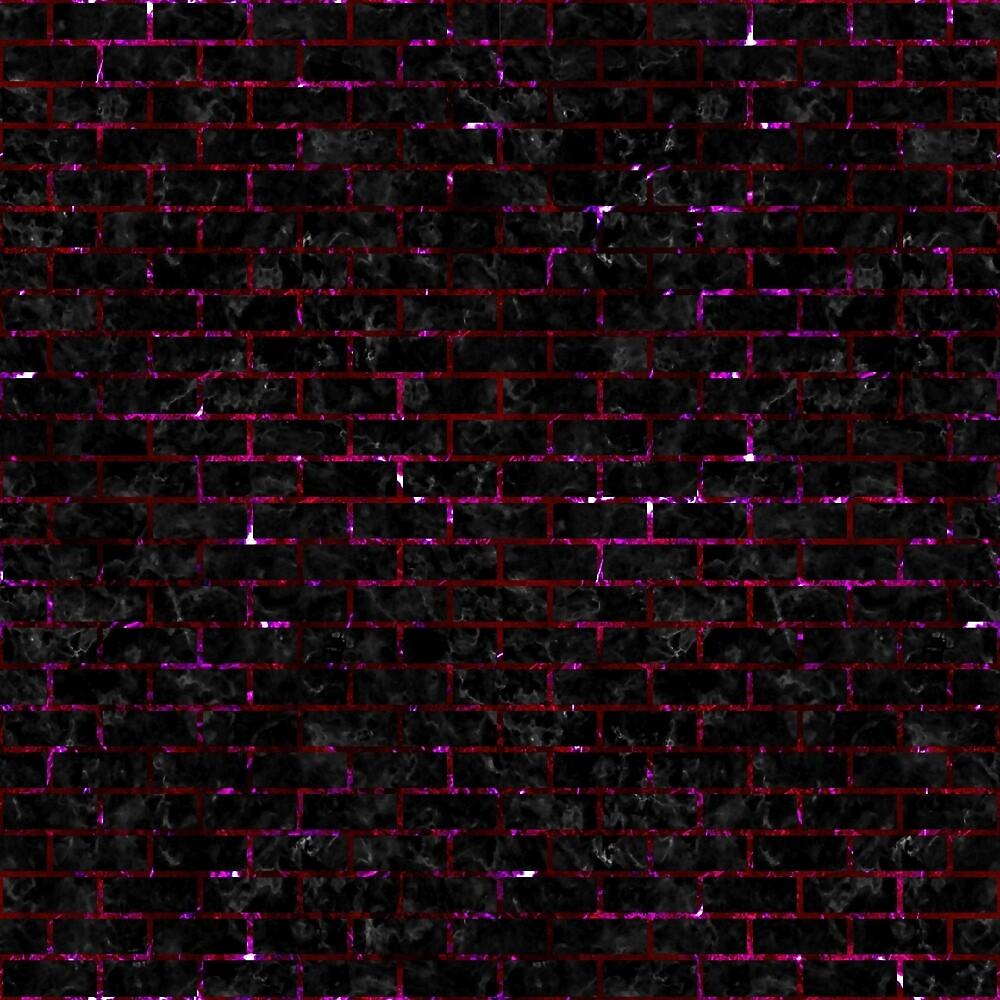 BRICK1 BLACK MARBLE & BURGUNDY MARBLE by johnhunternance