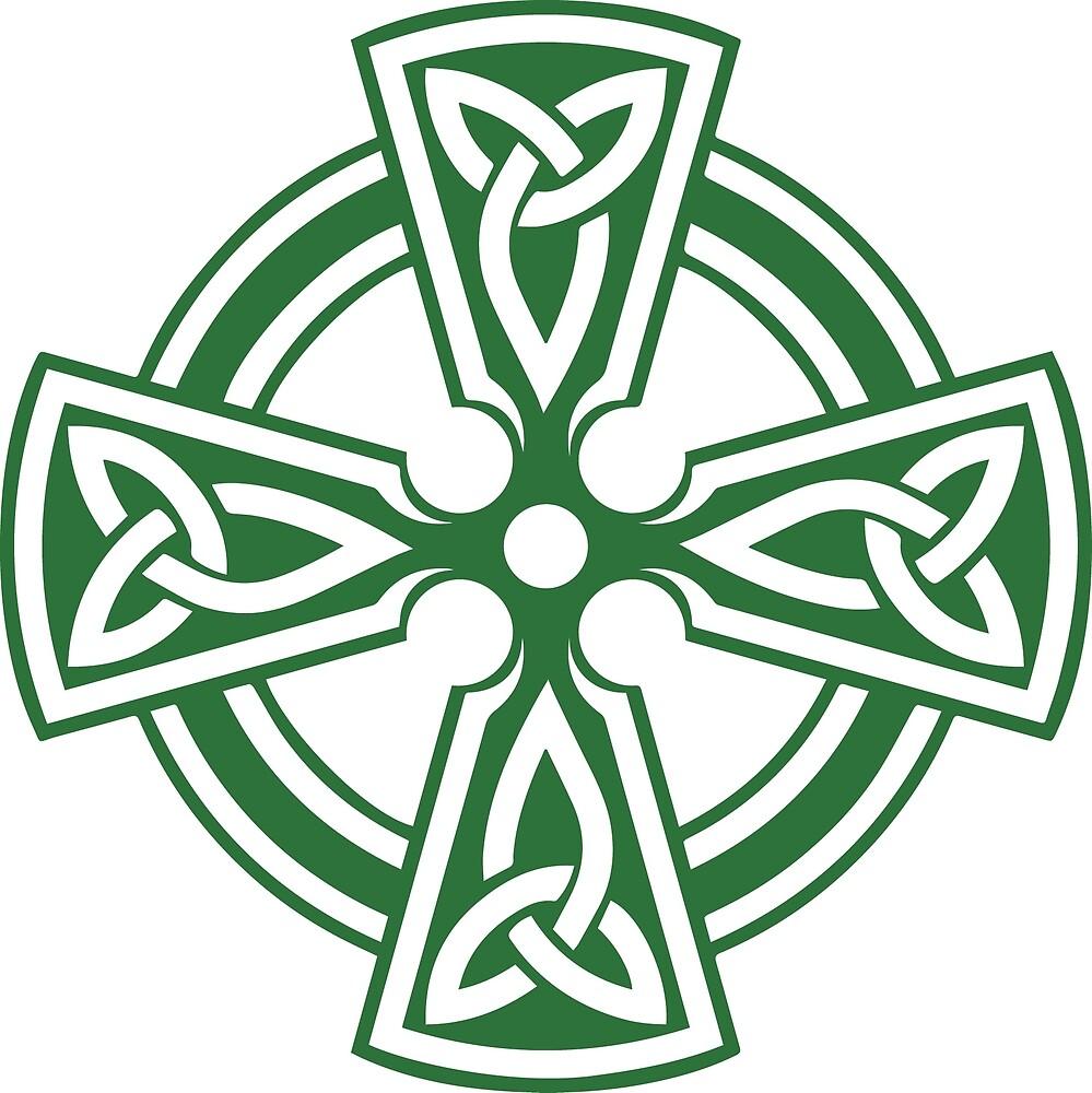 Celtic Cross (Green) by Richard Wagner
