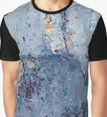 Gray Grunge Abstract Graphic T-Shirt