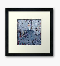 Gray Grunge Abstract Framed Print