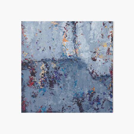Gray Grunge Abstract Art Board Print