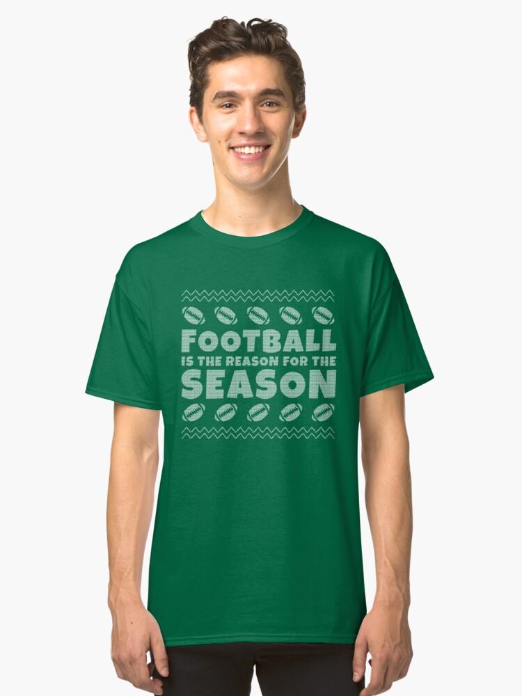 Ugly Christmas Football T Shirt Classic T-Shirt Front