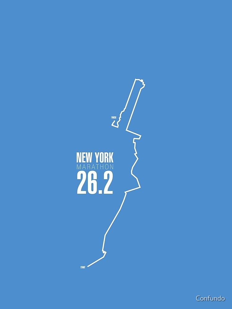 New York Marathon route. by Confundo