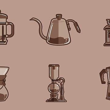 Coffee stuff gourmet pattern by jcweaverart