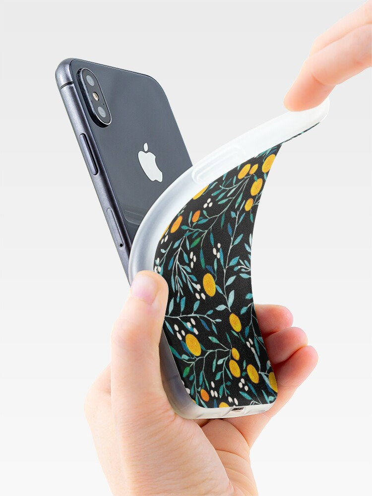 Alternate view of Oranges on Black iPhone Cases & Covers