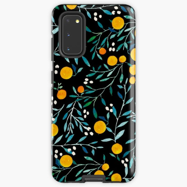 Oranges on Black Samsung Galaxy Tough Case