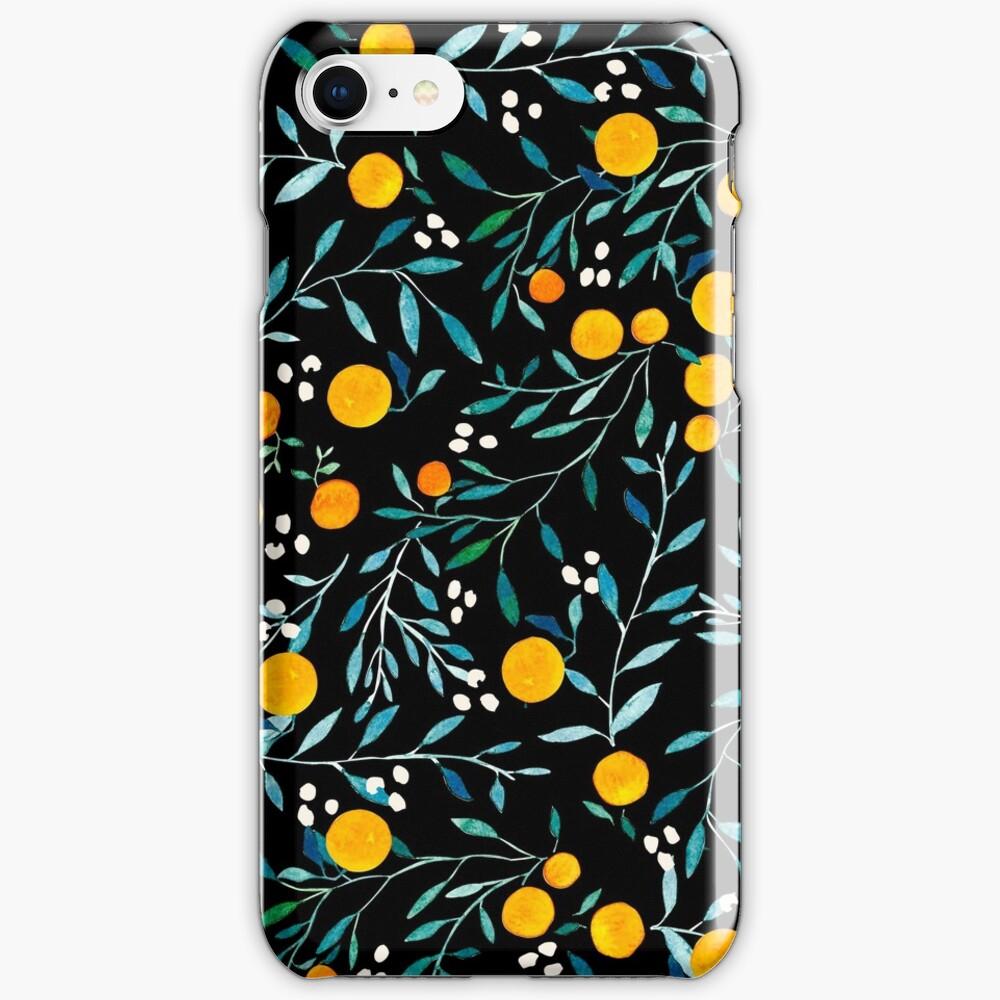 Oranges on Black iPhone Case & Cover