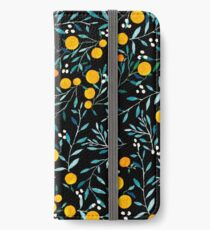 Oranges on Black iPhone Wallet/Case/Skin