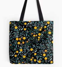 Oranges on Black Tote Bag