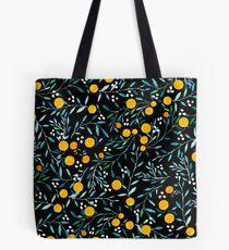 Orangen auf Schwarz Tote Bag