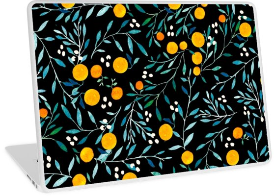 Orangen auf Schwarz von Iisa Mönttinen