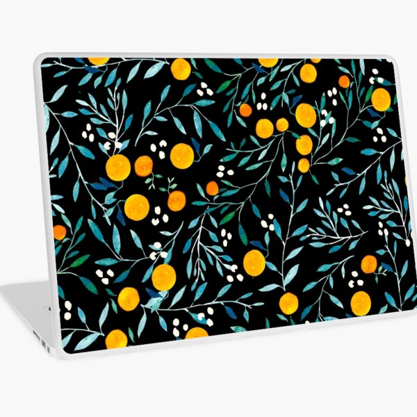 Oranges on Black Laptop Skin