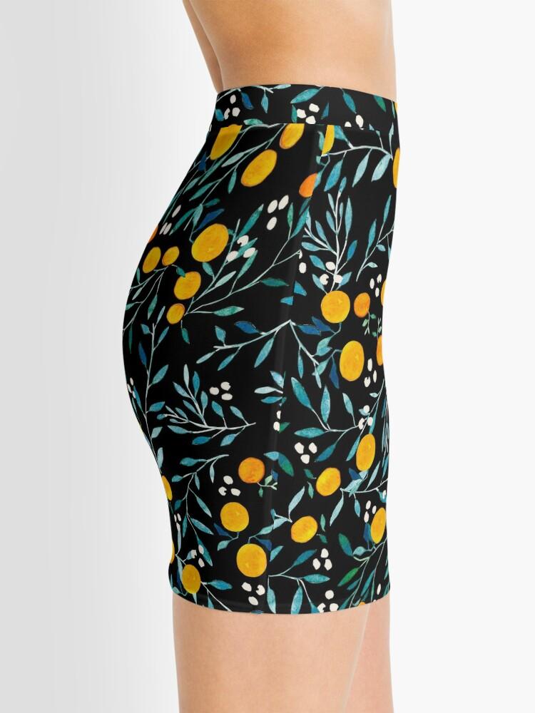 Alternate view of Oranges on Black Mini Skirt