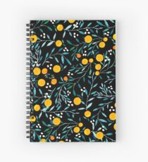 Oranges on Black Spiral Notebook