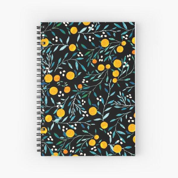 Oranges on Black Spiral Notebook