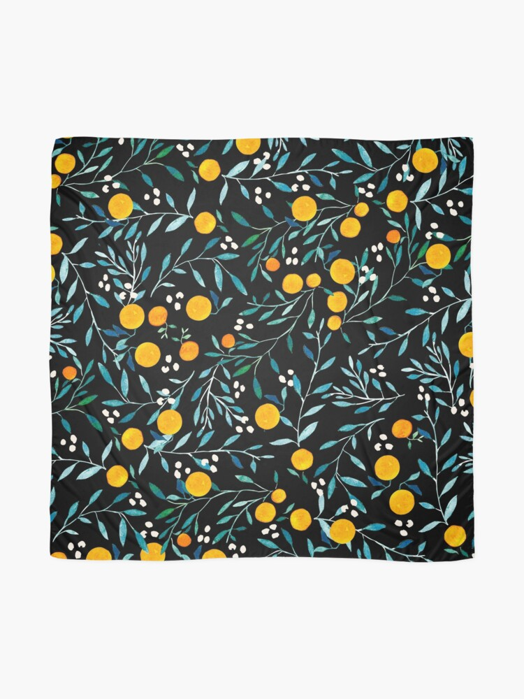Alternate view of Oranges on Black Scarf