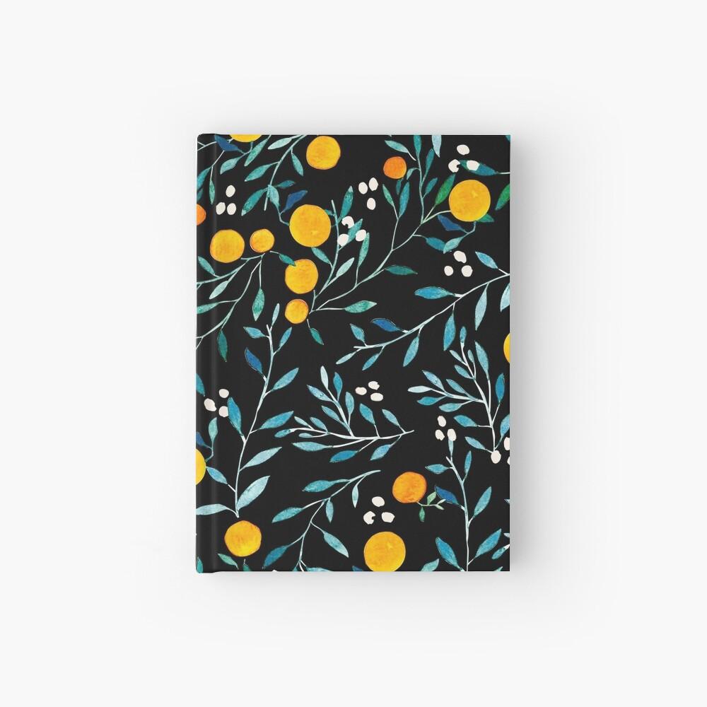 Oranges on Black Hardcover Journal
