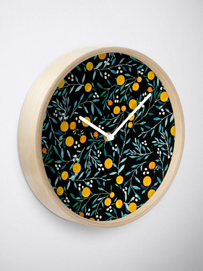 Alternate view of Oranges on Black Clock