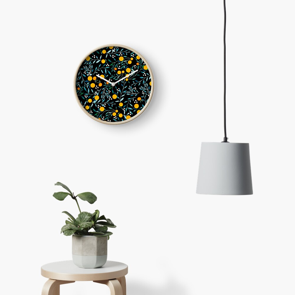 Oranges on Black Clock