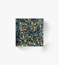 Oranges on Black Acrylic Block