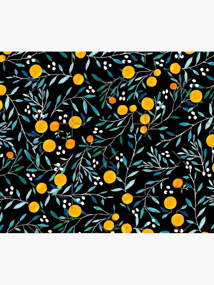 Orangen auf Schwarz von artiisan