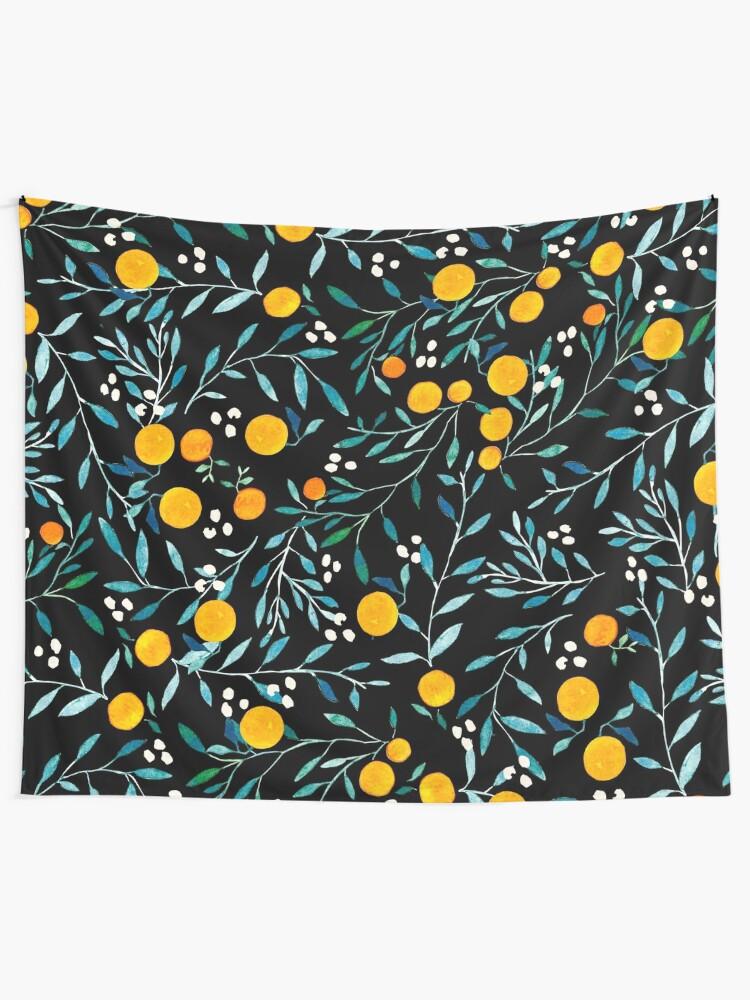 Alternative Ansicht von Orangen auf Schwarz Wandbehang