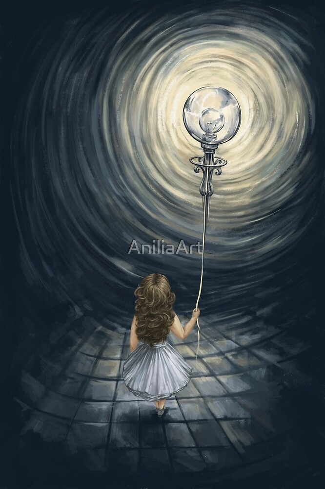 Girl with a balloon by AniliaArt