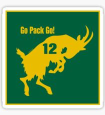 Aaron Rodgers GOAT Go Pack Go! Sticker