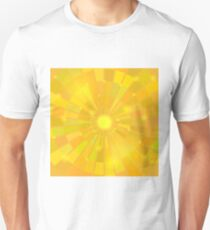 Abstract Elegant Sun Background. Yellow Mosaic Pattern T-Shirt