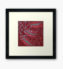Abstract Light Background. Blurred Lights Red Background Framed Print