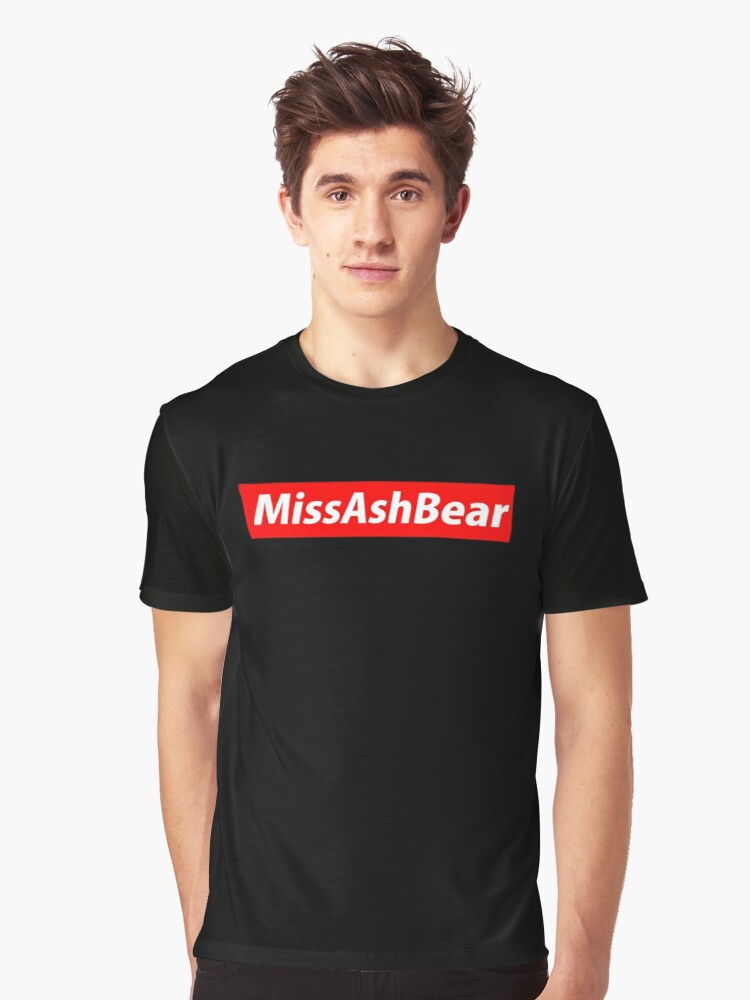 MissAshBear Red Logo Graphic T-Shirt Front
