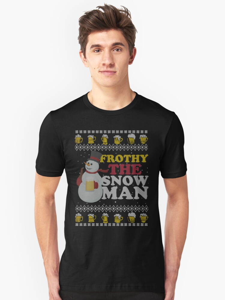 Ugly Christmas Beer T Shirt Unisex T-Shirt Front