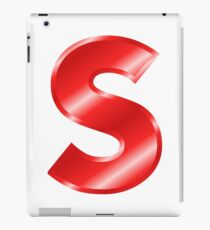 Modern Letter S Red Bold Font iPad Case/Skin