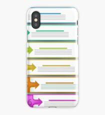 Modern  Infographics Banners Isolated on Grey Background iPhone Case/Skin