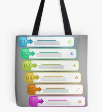 Modern  Infographics Banners Isolated on Grey Background Tote Bag