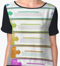 Modern  Infographics Banners Isolated on Grey Background Women's Chiffon Top