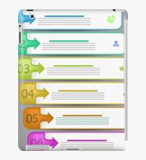 Modern  Infographics Banners Isolated on Grey Background iPad Case/Skin
