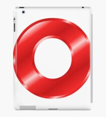 Modern Letter O Red Bold Font iPad Case/Skin