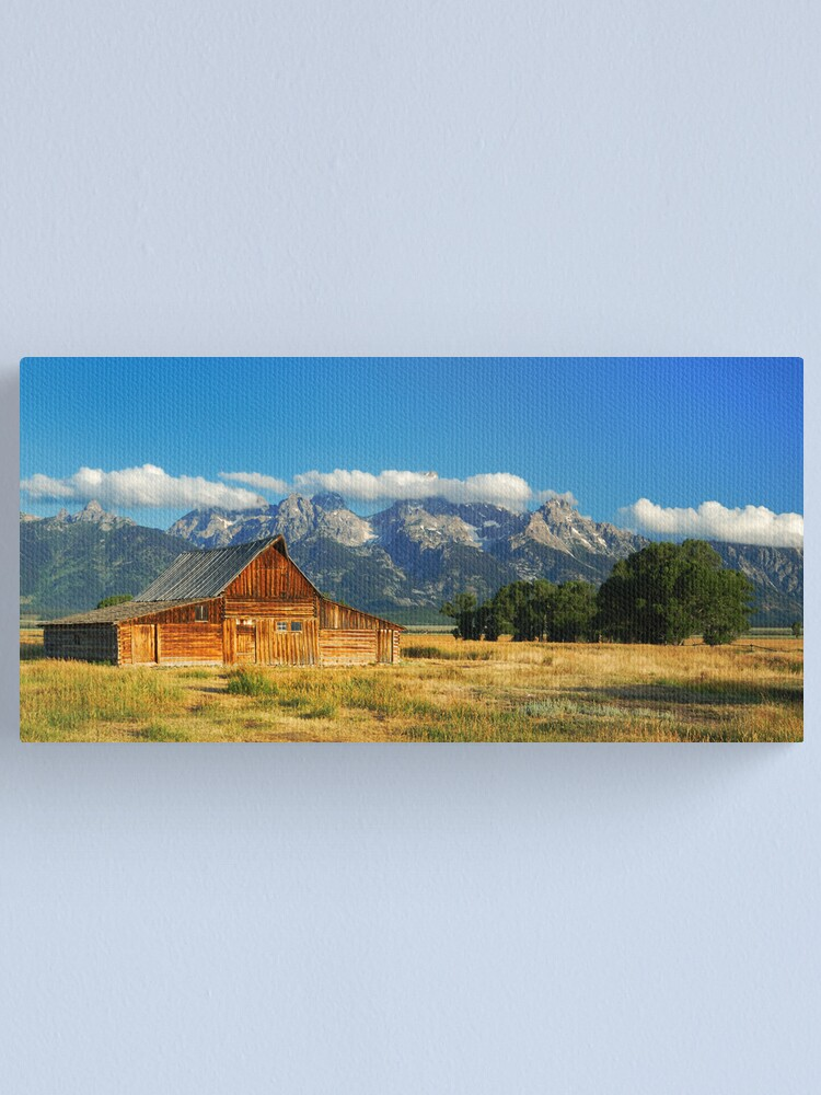 """Alternate view of """"The Barn"""" on Mormon Row Canvas Print"""