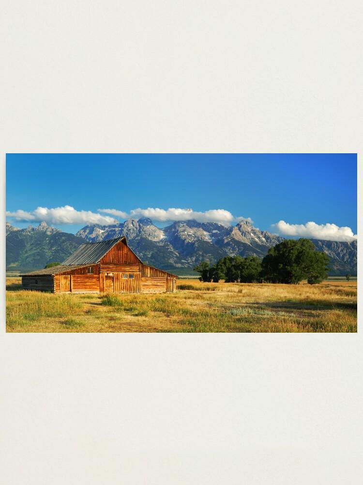 "Alternate view of ""The Barn"" on Mormon Row Photographic Print"