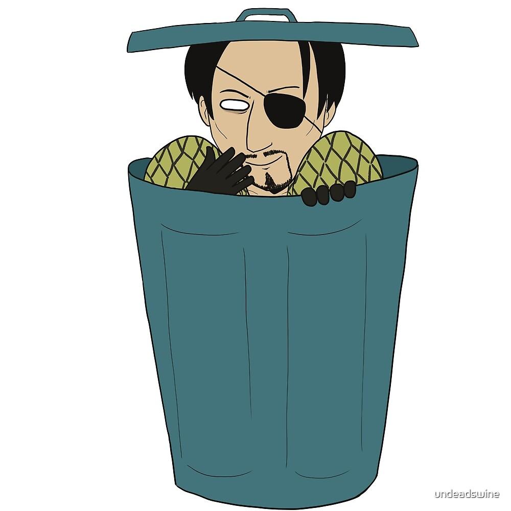 Trash Can Majima by undeadswine