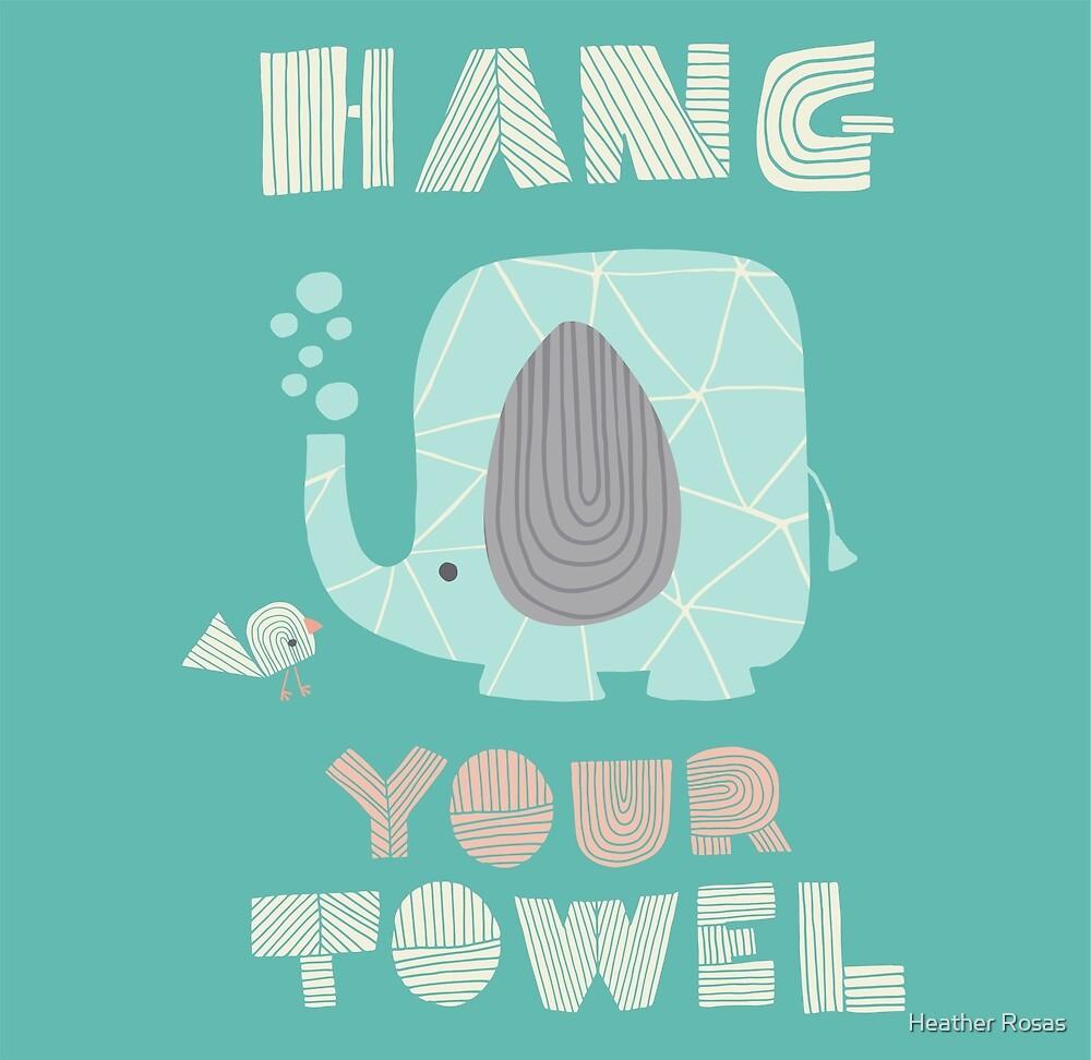 Splish Splash Zoo - Hang Your Towel by Heather Rosas