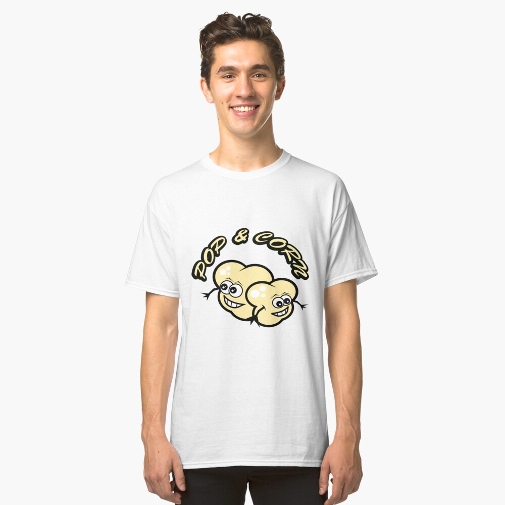 POP AND CORN Classic T-Shirt Front