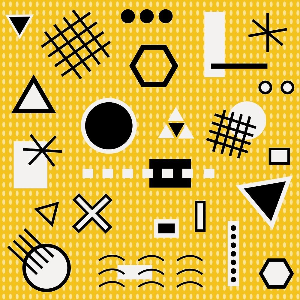 Maths yellow by dorettadesign