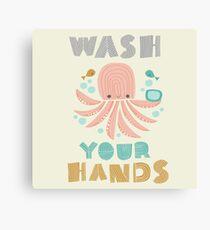 Splish Splash Zoo - Wash Your Hands Canvas Print