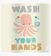 Splish Splash Zoo - Wash Your Hands Poster
