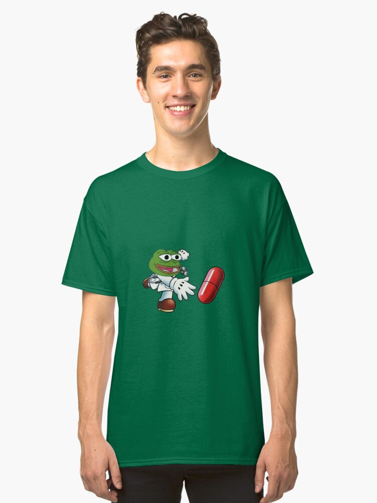 Red Pill Pepe Classic T-Shirt Front